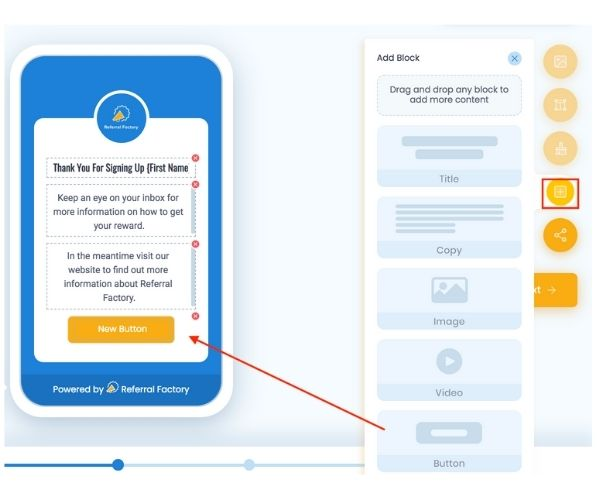Add Hubspot Buttons To Campaigns