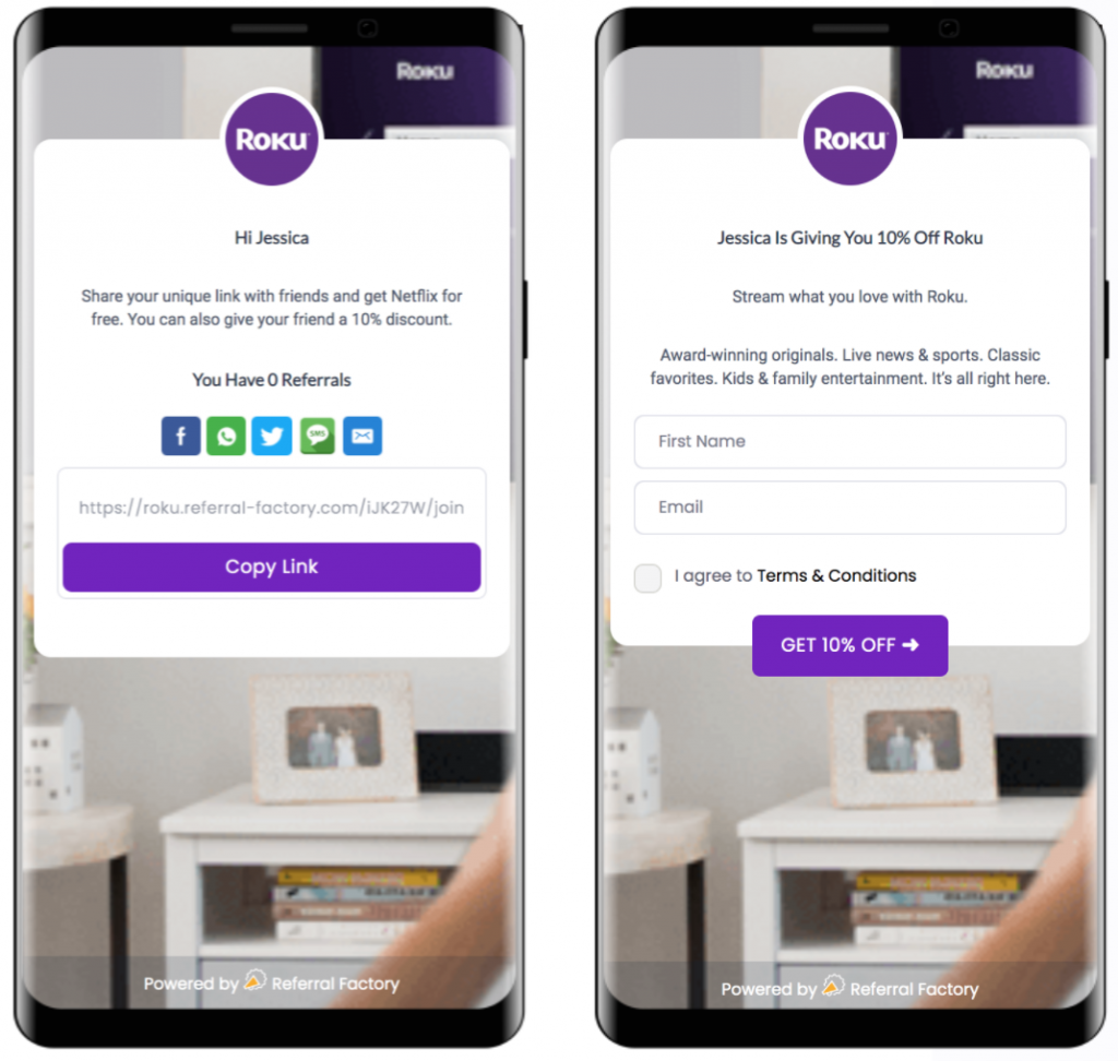 Quality leads from the Roku Referral Program